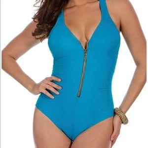 Miraclesuit Women's Turquoise Lagoon Swimsuit 10